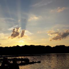 Sonnenuntergang am  Strand Foto: Steffi Rausch